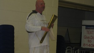 David the Olympic Torch bearer