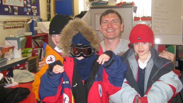 Frank with our Polar explorers
